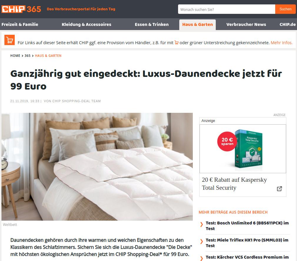 CHIP.DE WELTBETT Bericht